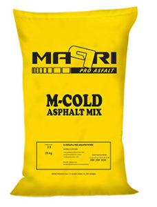 Hladna asfaltna zmes za popravila, 0-8 mm, vreča 25kg - M-COLD I MAPRI PROASFALT