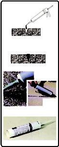 Postopek uporabe bitumenskega tesnila - RR Bitumen Kartuša I MAPRI PROASFALT