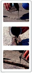 Postopek vgradnje zalivne mase za hladno tesnjenje - RR Herbifug I MAPRI PROASFALT